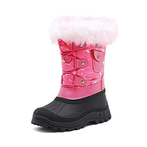 DREAM PAIRS Little Kid Ksnow Fuchsia Isulated Waterproof Snow Boots - 1 M US Little Kid