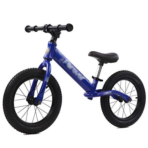 DUWEN Vélo d'Equilibre sans Pédales 14 Pouces Sport Trottinette Vélo avec Selle réglables Marche vélo d'entraînement garçons Filles Cadeau d'anniversaire 2-7 Ans Universel intérieur et extérieur