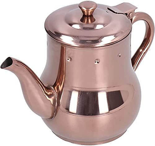 ZFQZKK Czajnik do herbaty, stylowy 50 0ml. Czajnik wielofunkcyjny z pokrywą pyłoszczelną do restauracji dla rodziny na popołudniową herbatę stalowy dzbanek do kawy