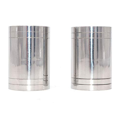 WINGONEER 2pcs Stainless Steel Cocktail Jigger Cup Liquor Measuring Cup Straight Cylindrical Measuring Cups Bartender Drink Mixer Party Bar Bartending Tools - 50mL/1.69oz