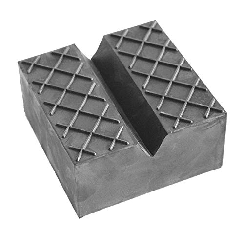100x100x50mm Gummiauflage mit V-Nut & Waffeloberfläche für Wagenheber und Hebebühnen