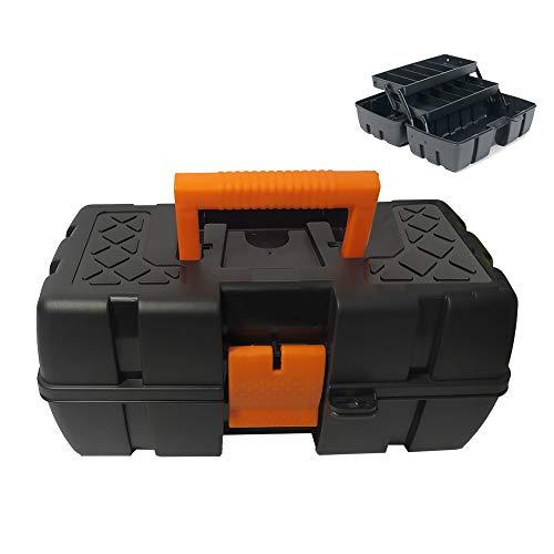 EUROXANTY Caja de Herramientas | Maletín Herramientas | materiales resistentes |con Asa reforzada | Cierre seguridad | Varios compartimentos | Modelo Ariel