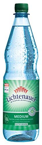 Lichtenauer Mineralwasser Medium 12x1,0 l - inklusive Pfand - Lieferung ohne Kiste