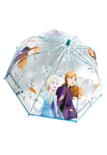 Frozen 2 - Die Eiskönigin Anna ELSA Regenschirm Stock-Schirm Kuppelschirm