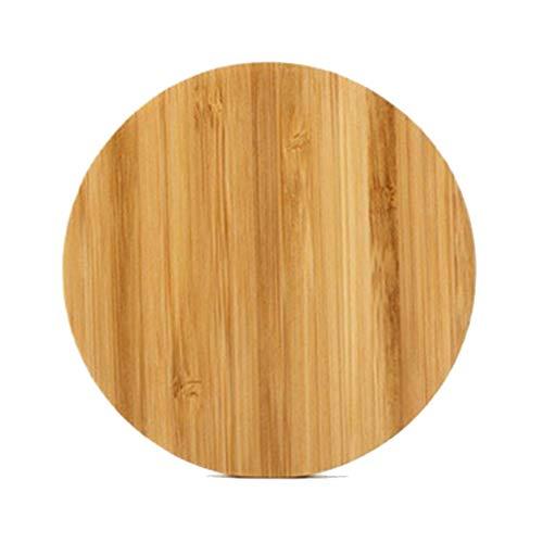 #N/D Nuevo cargador inalámbrico de madera personalizado amor cargador inalámbrico cuadrado bambú forma regalos personalizables