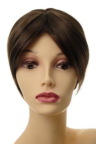WIG ME UP ® - Postiche extension remplacement cheveux clip-in env. 20 cm brun cendré L008-8