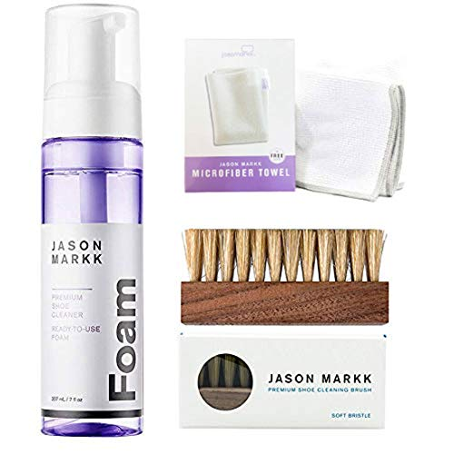 Jason Markk Premium Ready-To-Use Foam 207ml, Brush and Microfiber Cloth
