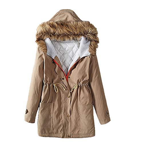 U/A espesar algodón acolchado ropa Slim fit y versátil cuello de desgaste de las mujeres personalizado largo y grueso abrigo