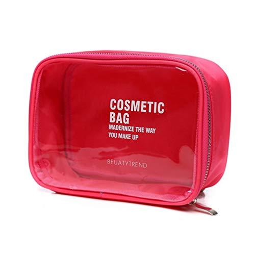 KESYOO Couleur Bonbon Sac de Rangement Étanche Sac de Maquillage Grande Capacité Pvc Transparent Sac à Main Organisateur de Cosmétiques - Rose