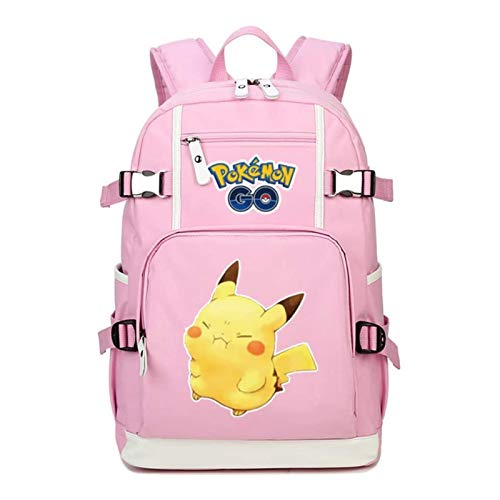 Tutui adorable mochila de hombro doble Pokemon Mochila Pokémon Pikachu Anime Periférico Escuela Bolsa Lindo Mochila Femenina Pokemon