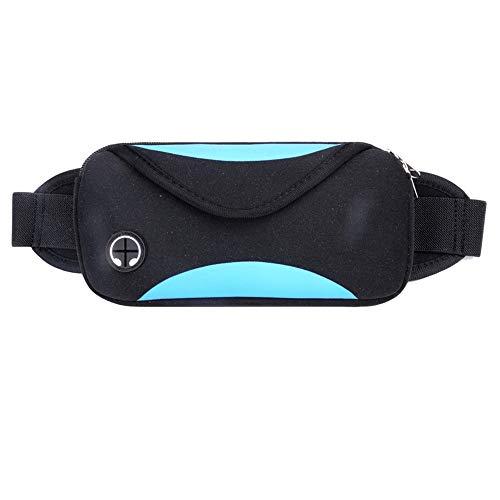 QinWenYan Sports Waist Packs Waterproof Running Pockets Fitness Pockets Adjustable Belt Hiking Running Cycling (Color : Red, Size : 24cm*12cm*4cm)