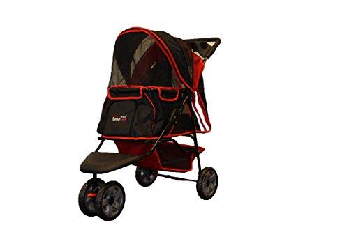 Haustier-Buggy all Terrain IPS-01 rot/schwarz, Hunde-Tragetasche, Trolley, Trailer, InnoPet, Buggy, Zusammenklappbar Pet Buggy, Kinderwagen, Kinderwagen für Hunde und Katzen