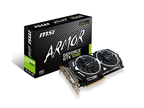 MSI Gaming GeForce GTX 1080 8GB GDDR5X SLI DirectX 12 VR Ready Graphics Card (GTX 1080 ARMOR 8G OC) (Renewed)
