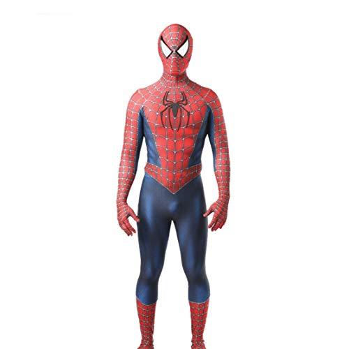 TOYSGAMES Amazing Spiderman Cosplay Niños Traje Adulto Negro Versátil Tight Body Suit Superhero Movie Theme Party Props Disfraz de máscara de Juguetes (Color : Spiderman, Size : Adult XL 170-175cm)