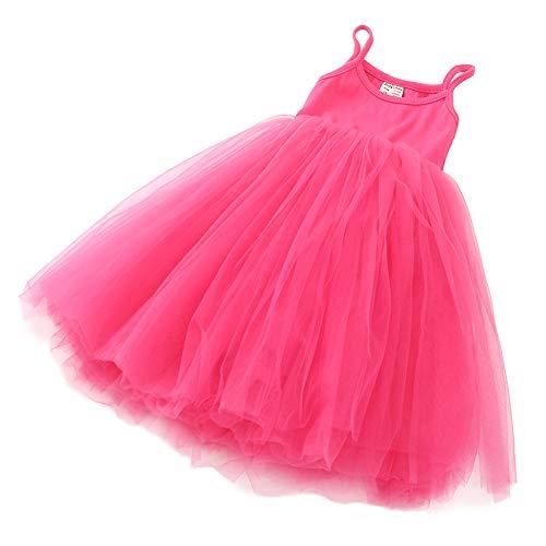 ZINPRETTY Toddler Dress Baby Girls Tutu Playwear Sleeveless Party Christmas Sundress Rose