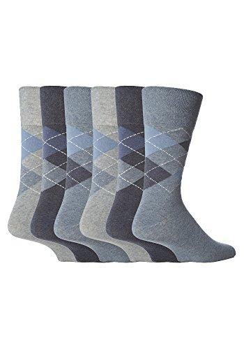 sockshop Gentle Grip Herren Socken blau blau Large