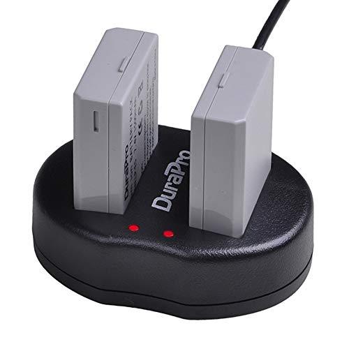DuraPro 2Stk. LP-E5 LPE5 Akku + USB-Doppelladegerät für Canon LP-E5 und Canon EOS Rebel XS-, Rebel T1i-, Rebel XSi-, 1000D-, 500D-, 450D-, Kiss X3-, Kiss X2- und Kiss F-Kameras