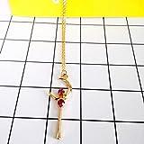 QiaoShiRen Anhänger Halsketten Mode Schöne Kontraktion und Reiner und frischer See Set Schnecke...