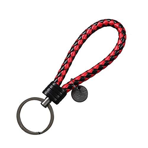 Double One New Geflochtenes Leder Schlüssel Seil Schlüsselanhänger Ring Handgemachte Anhänger Auto Keyrings Zubehör for Männer Frauen (Color : 12)