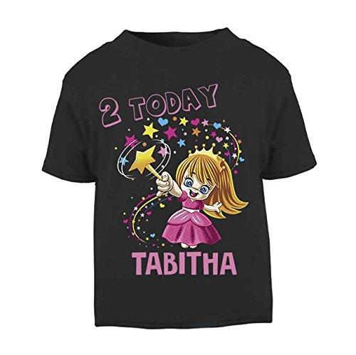 Camiseta de cumpleaños personalizable con nombre de hada para niños de 1 a 2 años, color...