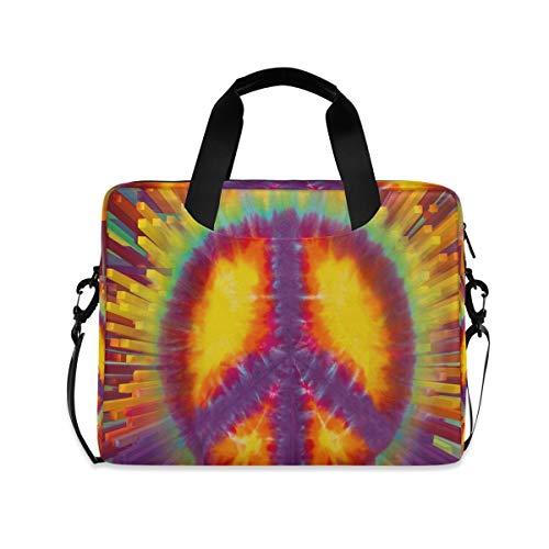 XIXIKO Laptoptasche mit Friedens-Symbol, erweiterbar, Trolley, Aktentasche für Damen und Herren, mit abnehmbarem Gurt für Arbeit, Reise, Büro, iPad, MacBook