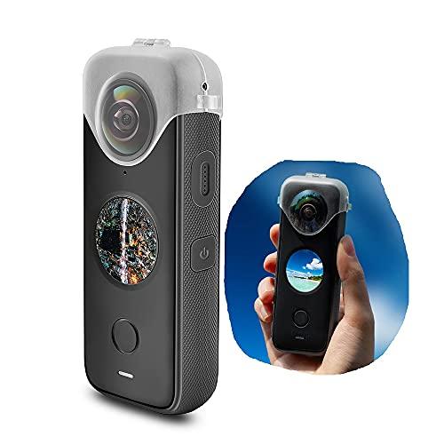 Tmom Objektivschutzhülle Objektivkappe für Insta360 ONE X2 Transparente Schutzhülle für Action Kamera Anti-Fall-Zubehör