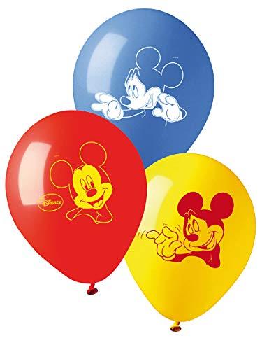 20 Palloncini in Lattice Topolino - Mickey Mouse Club House - Rosso, Giallo e Blu - Pallone Decorazione addobbo per Feste, Party, Compleanno Bimbo