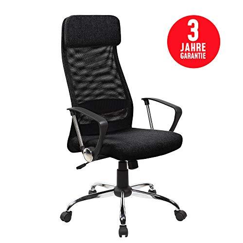 Inova Design Bürostuhl ergonomisch Bequemster Netz Bürodrehstuhl mit Armlehne und Kopfstütze...