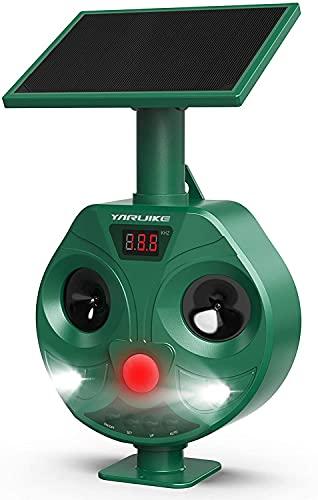 Garden Animal Repellent, Waterproof Ultrasonic Cat Repellent, Dog Birds...