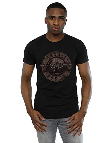 Guns N Roses hombre Sepia Bullet Logo Camiseta Small Negro