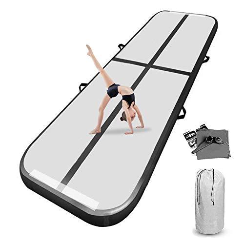 airtrack 10cm/20cm Spessore 3 m / 4 m / 5 m / 6 m / 7 m / 8 m airtrack Ginnastica Air Track Ginnastica Artistica Materasso Ginnastica Gonfiabile Yoga Taekwondo con Pompa elettrica
