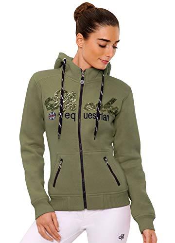 Roxie Sweat Jacket Sequin - DE (Farbe: Olive; Größe: M)