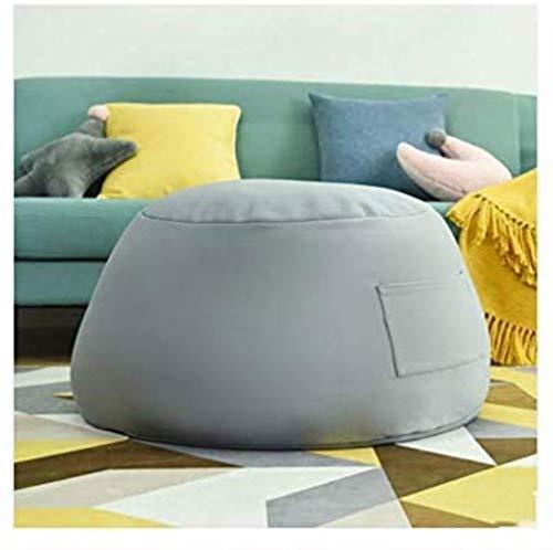 Canapé lit GCX- Lazy Sofa Couch Cotton Bean Bag Living Room Petit Bean Bag Sofa Petit Appartement Chambre Mignon Fille Tatami Balcon Bean Bag Chair Confortable (Color : Gray)
