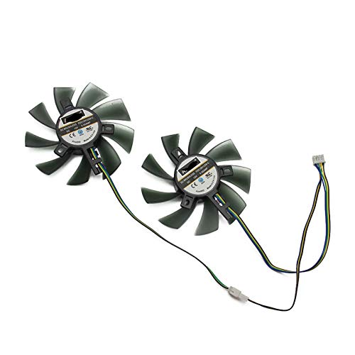 85mm FDC10H12S9-C GA91S2U 4Pin Cooler Lüfter ersetzen für Palit GeForce GTX 1070 TI 1070 1060 1080 GTX1060 Dual Graphics Card (Blade Color : 2PCS)