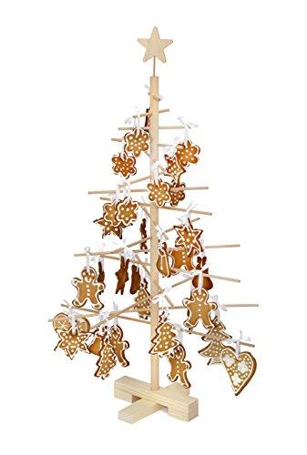 Unbekannt Xmas3S 75cm Arbre de Noël en Bois, Naturel, 48x 48x 75cm