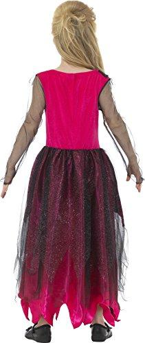 Smiffys Costume deluxe reginetta del ballo studentesco in stile gotico, Rosa e Nero, con