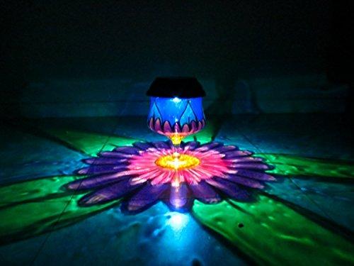 HandPainted Solar Daisy Luminary Lantern Hurricane
