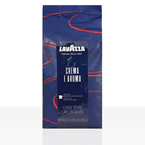 Lavazza Kaffee Creme e Aroma Blau, Espresso, Bohnenkaffee, Röstkaffee, Ganze Bohnen, 6 x 1000g