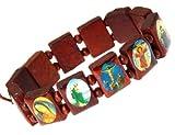 Elásticos de santos de madera pulsera brazalete / jesús / pulsera de todos los santos - f