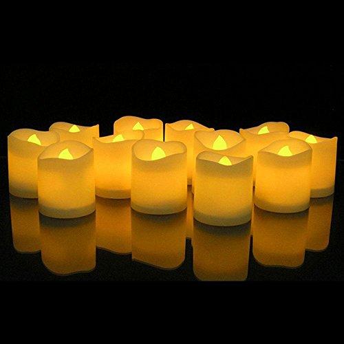 KOBWA 12er Set Flammenlose Kerzen Batteriebetriebene Teelichter LED-Kerzen für Weihnachtsbaum, Weihnachtsdeko, Hochzeit, Geburtstags, Party