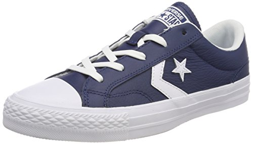 Converse STAR PLAYER OX NAVY/WHITE/WHITE, Unisex-Erwachsene Low-top, Blau (Navy/White/White 410), 41 EU (7.5 UK)