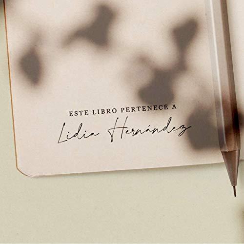 Sello Ex Libris Personalizado de Madera para Libros, 4 Diseños Disponibles: Amazon.es: Handmade