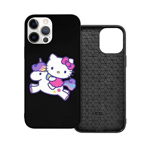 N / A Hello Kitty with Unicorn Handyh¨¹lle iPhone 12 PC Material Unisex para proteger la Pers?nlichkeit del teléfono a prueba de polvo iPhone 12 Pro-6.1