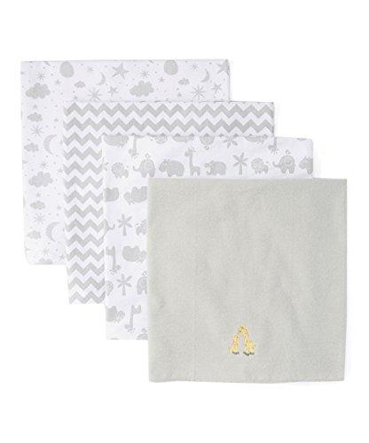 Spasilk Baby - Manta de recepción de Franela 100% algodón, diseño de Jirafa Gris, Talla única