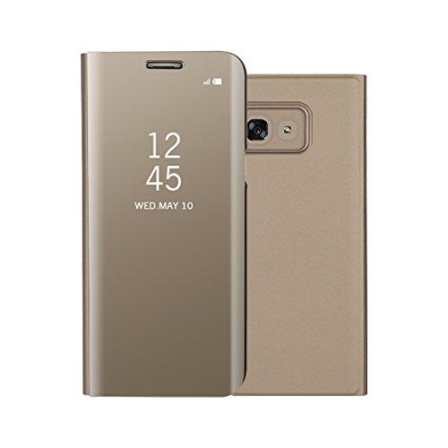 Funda Espejo Enchapado Flip Funda para Samsung Galaxy A5(2017) (Oro)