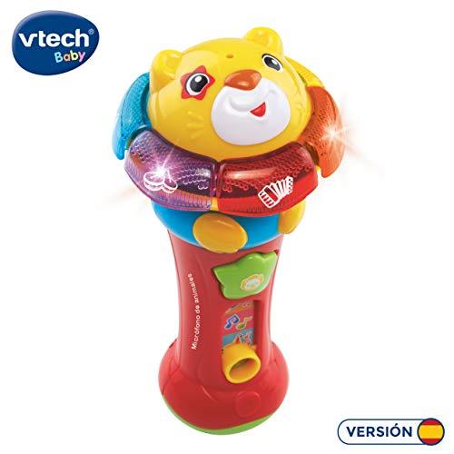 Vtech cantar una larga micrófono Musical Juguete Animal Sonidos de aprendizaje de los números de canto