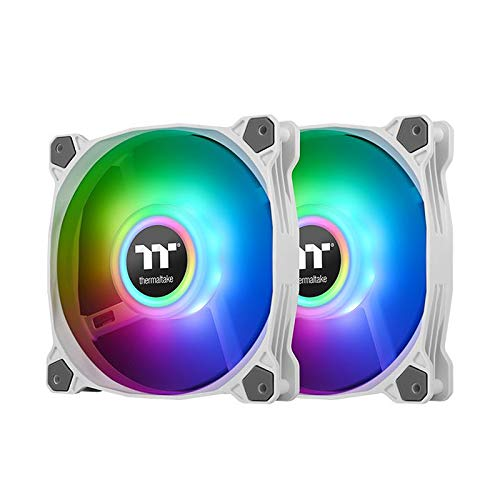 Thermaltake Pure Duo 12 ARGB Sync Radiator Fan (2-Fan Pack)-weiß, CL-F097-PL12SW-A