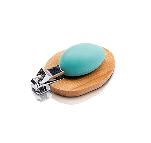 Rhoost Deluxe Baby Nail Clipper- Easy to Use Ergonomic Design with Natural Bamboo & No Slip Silicone Thumb Rest. Ideal for Infants & Toddlers