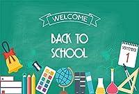 HD 7x5ftビニール写真に戻る学校の背景学校教育用品教室の黒板背景パーティーの装飾教師学生学生写真ブース撮影スタジオの小道具