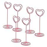 freneci - Clip porta numeri da tavolo, 6 pezzi, colore: Rosa